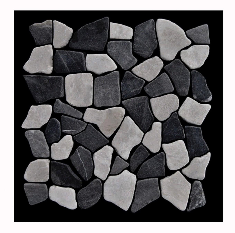 1 Matte Grau Weiß M006 Marmor Mosaikfliesen Günstig Kaufen Lager von Mosaik Fliesen Günstig Bild