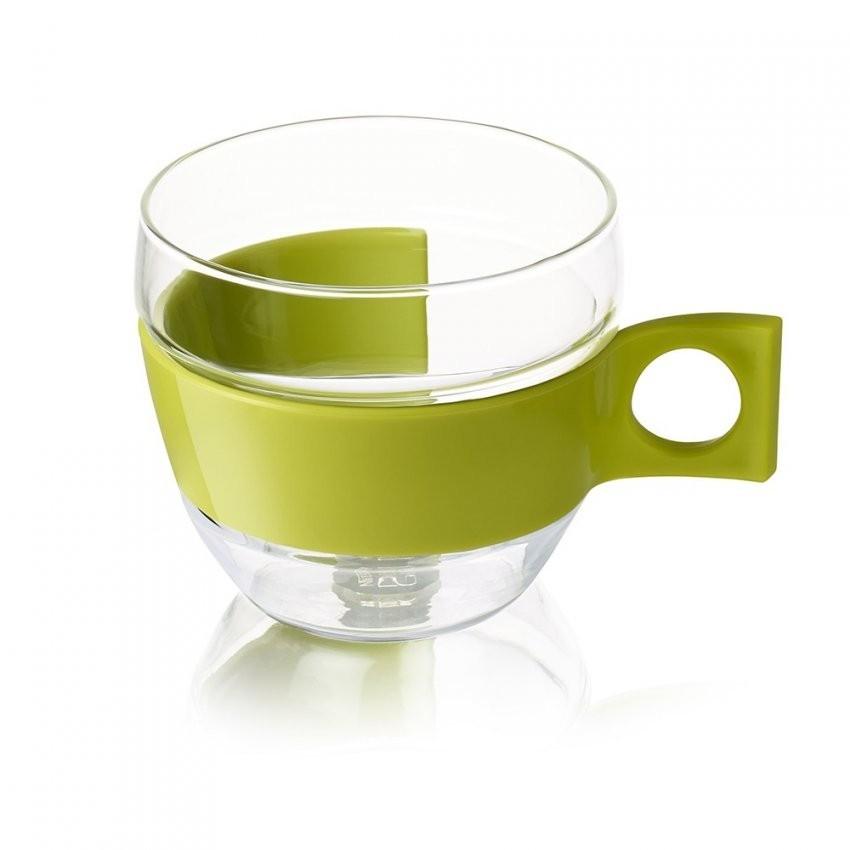 2 Doorzichtige Cappuccino Tassen Pop  Accessoires  Nescafé® Dolce von Kaffeetassen Set Glas Photo