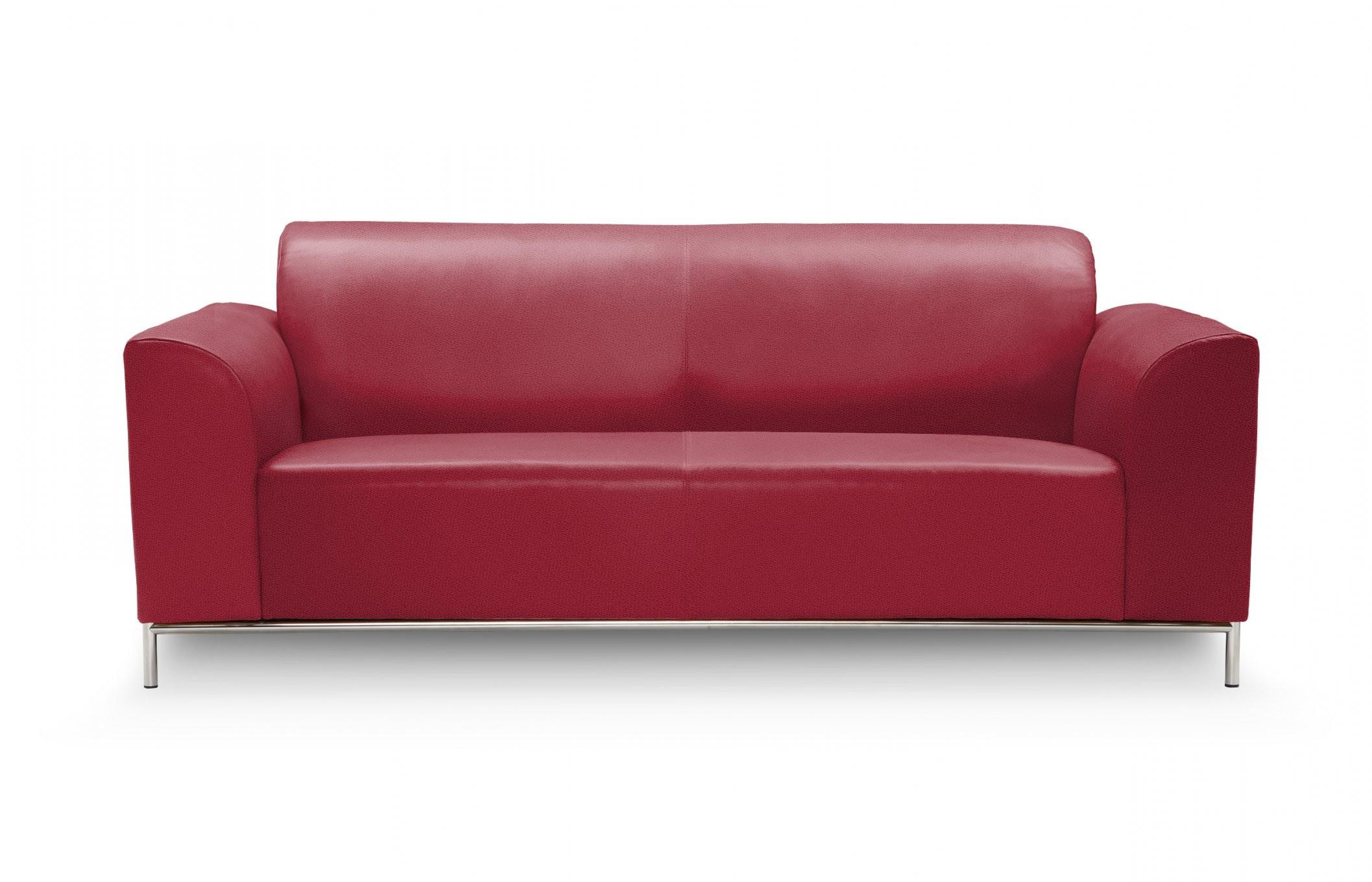 2Sitzer Glanzstück Leder Klassik Tomaat  Sitzfeldt von 2 Sitzer Sofa Rot Bild