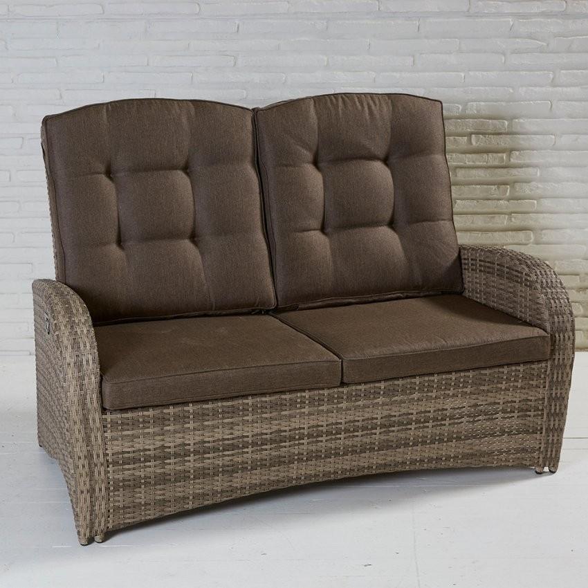 2Sitzer Living Sofa Turin Rabida Natur Geflecht Polyrattan von Polyrattan Sofa 2 Sitzer Photo