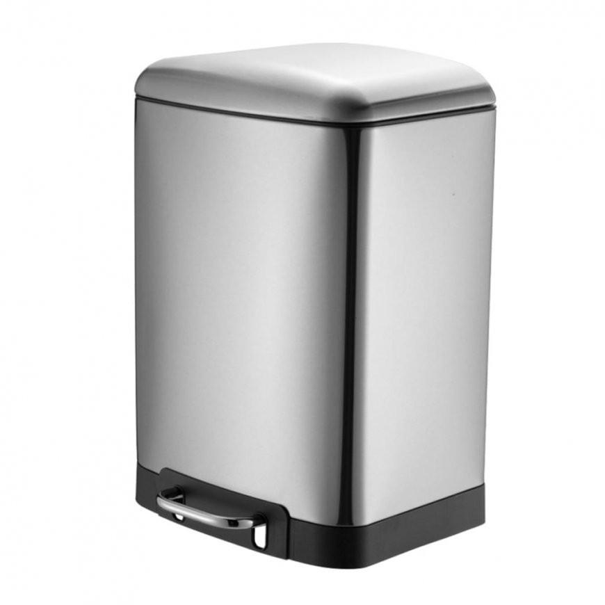 30 Liter Treteimer Küche Softclose  Edelstahl  Real von Tretmülleimer Küche Bild