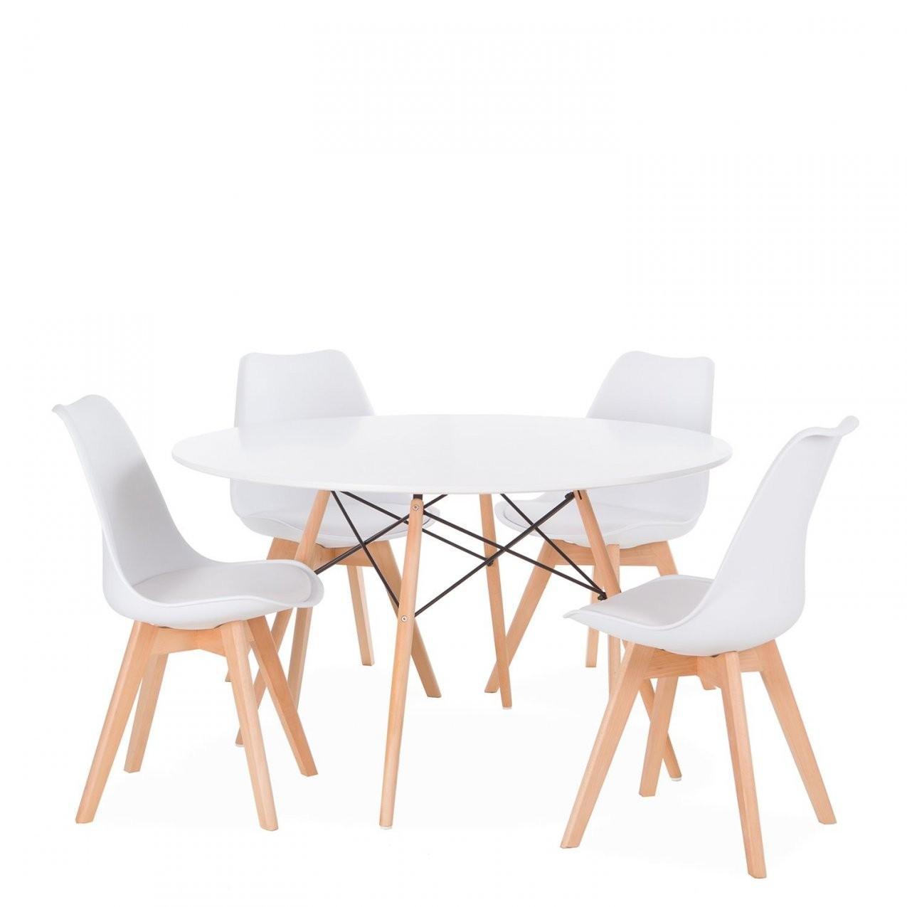4 Skandinavische Stühle Tulipa + 1 Tisch Wooden 120 (Packs) Dsw von Skandinavische Esszimmerstühle Photo