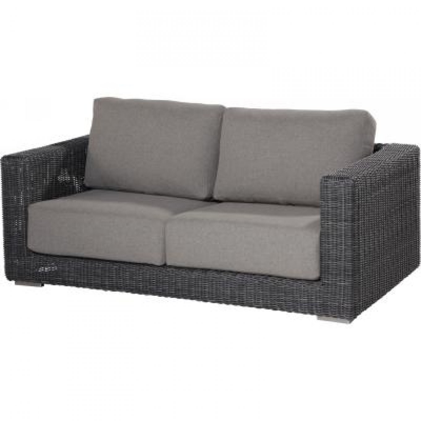 4Seasons Outdoor Somerset Sofa 25Sitzer Loungesofa Polyrattan von Polyrattan Sofa 2 Sitzer Photo
