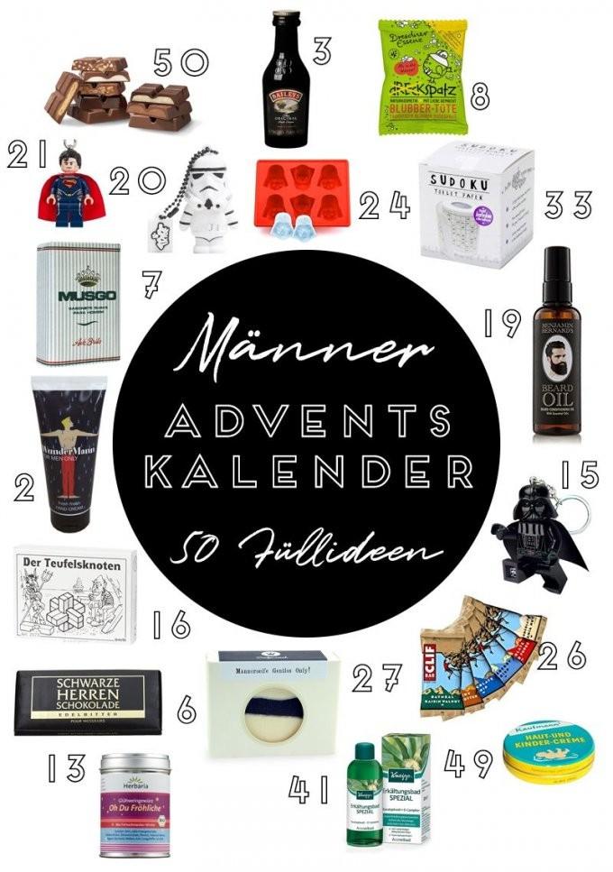 50 Ideen Für Die Adventskalenderfüllung Für Deinen Freund Mann von Adventskalender Für Freund Selber Machen Bild