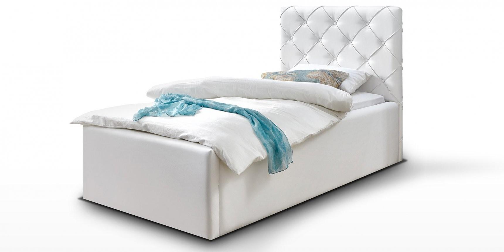 90X200 Bett Herrlich Polsterbett Bett Mit Bettkasten Weiß Nelly von Polsterbett Mit Bettkasten 90X200 Bild