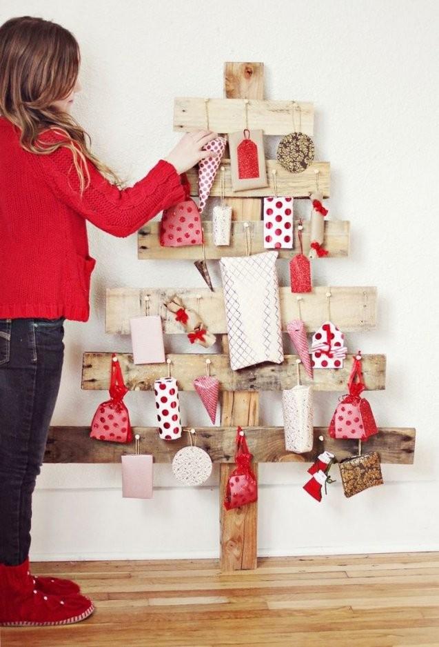 Adventskalender Aus Holz Basteln15 Originelle Tannenbäume von Paar Adventskalender Selber Machen Bild