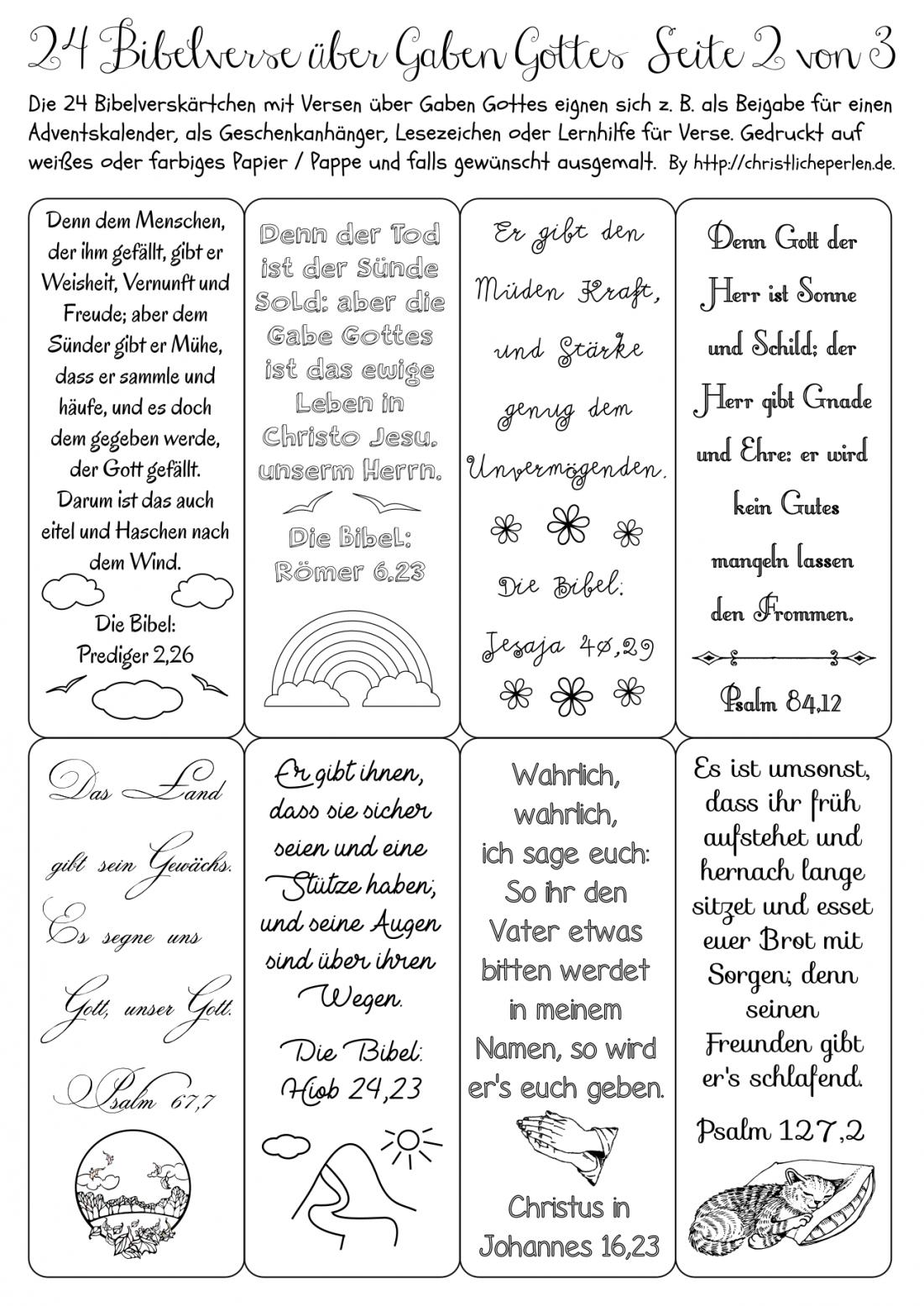 Adventskalender  Christliche Perlen von Adventskalender Mit Sprüchen Selber Machen Bild