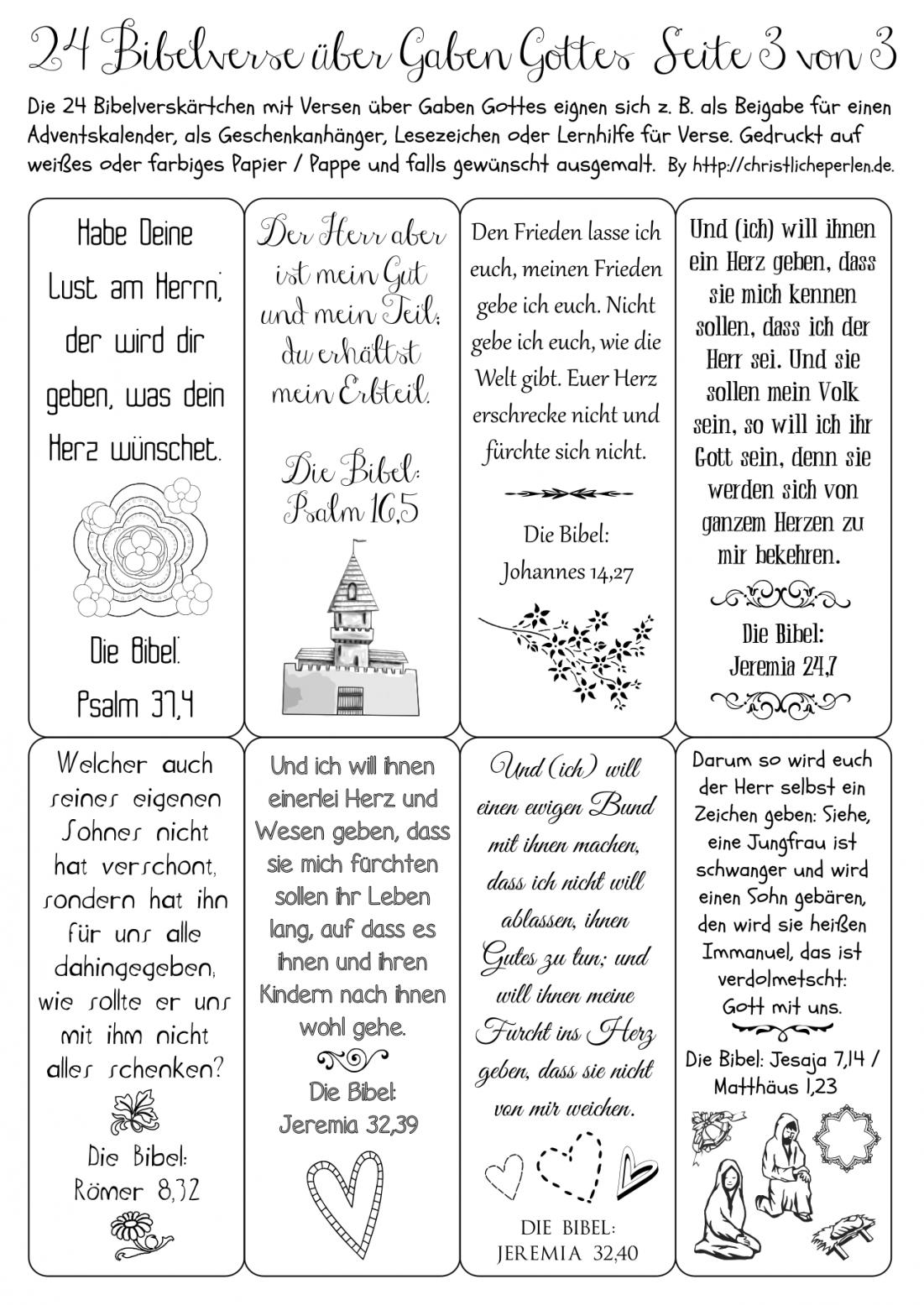 Adventskalender  Christliche Perlen von Adventskalender Mit Sprüchen Selber Machen Photo