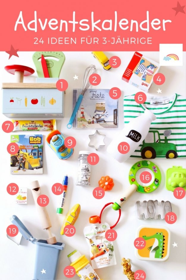 Adventskalender Für Kinder Füllen 24 Ideen Für 3Jährige  Der Blog von Adventskalender Selber Machen Kinder Bild