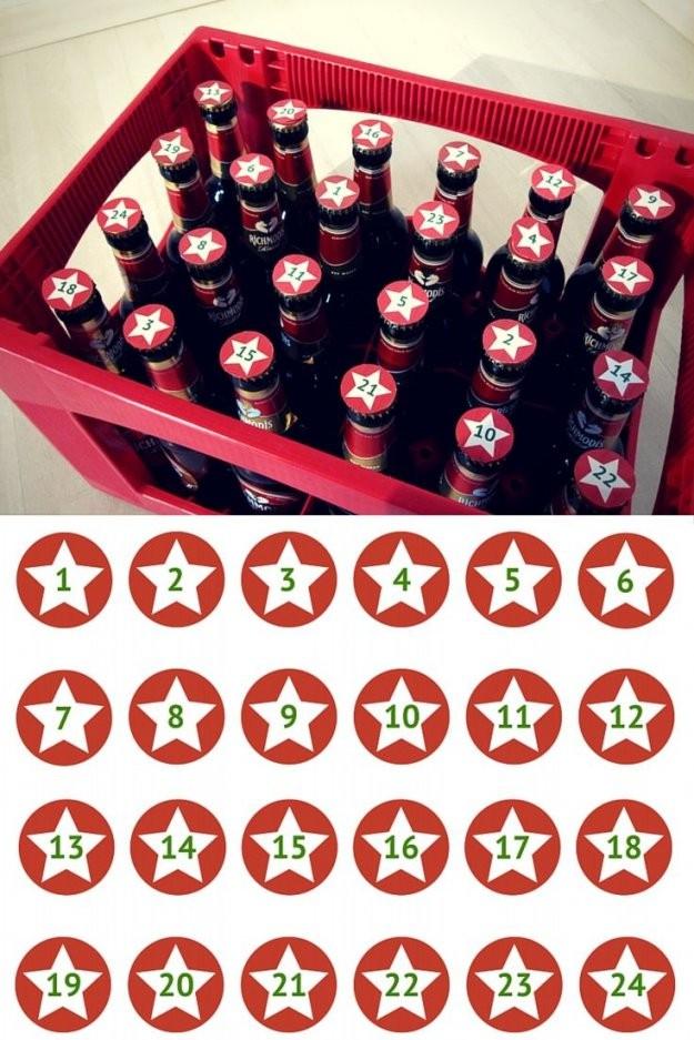 Adventskalender Für Männer  Top 25 & Free Printable  Advent von Bier Adventskalender Selber Machen Bild