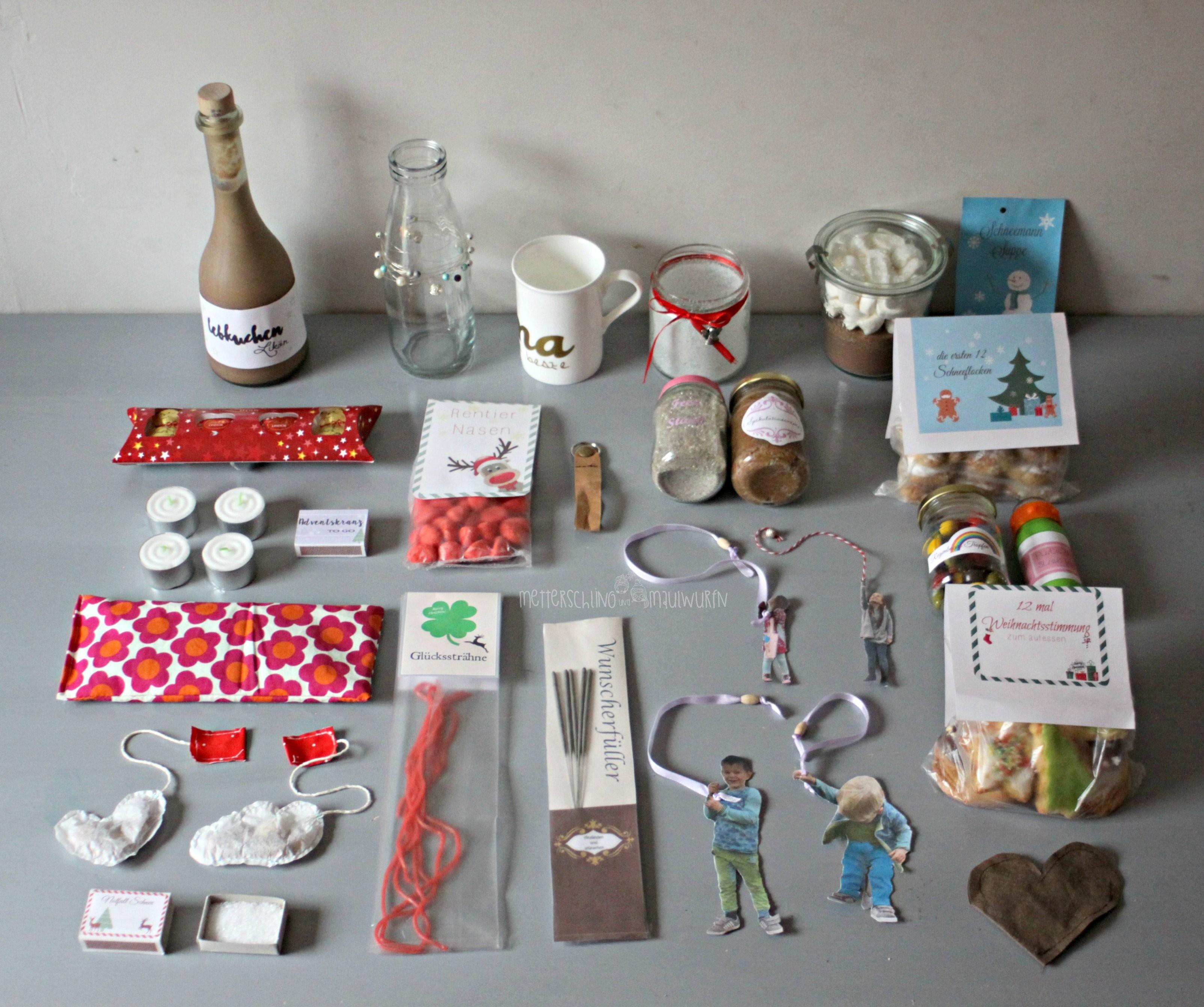 Adventskalender  Kleine & Schnelle Geschenke Zu Weihnachten Für von Adventskalender Für Erwachsene Selber Machen Bild