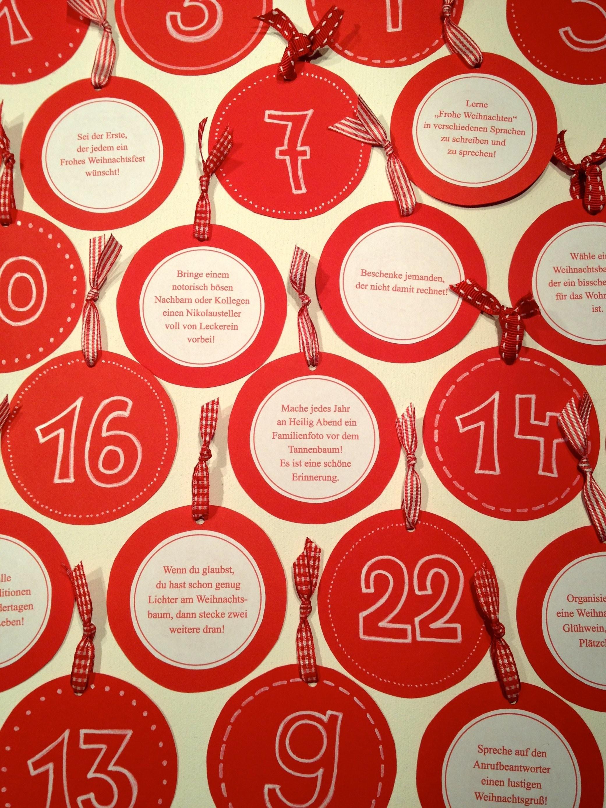 Adventskalender Mit 24 Aufgaben  Hello Mime von Adventskalender Mit Sprüchen Selber Machen Bild