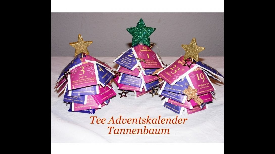 Adventskalender Tee Tannenbaum  Fafolia  Youtube von Adventskalender Tee Selber Machen Photo