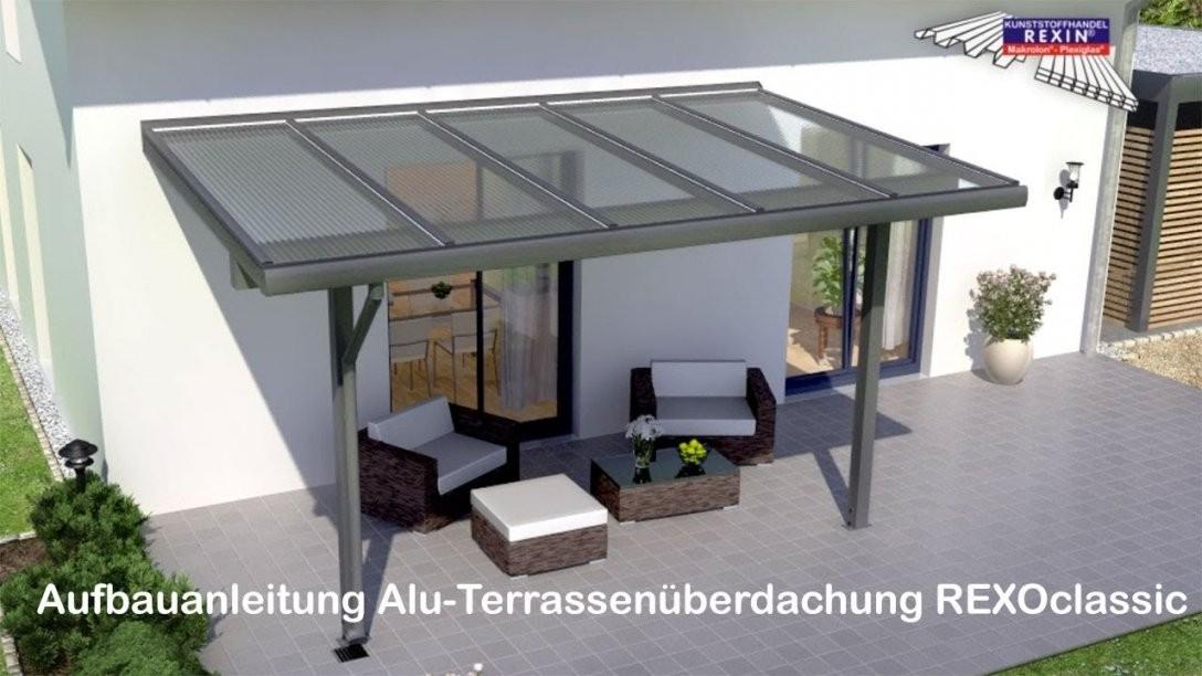 Alu Terrassenüberdachung Bauanleitung (Rexoclassic) Hd  Youtube von Terrassenüberdachung Selber Bauen Anleitung Bild