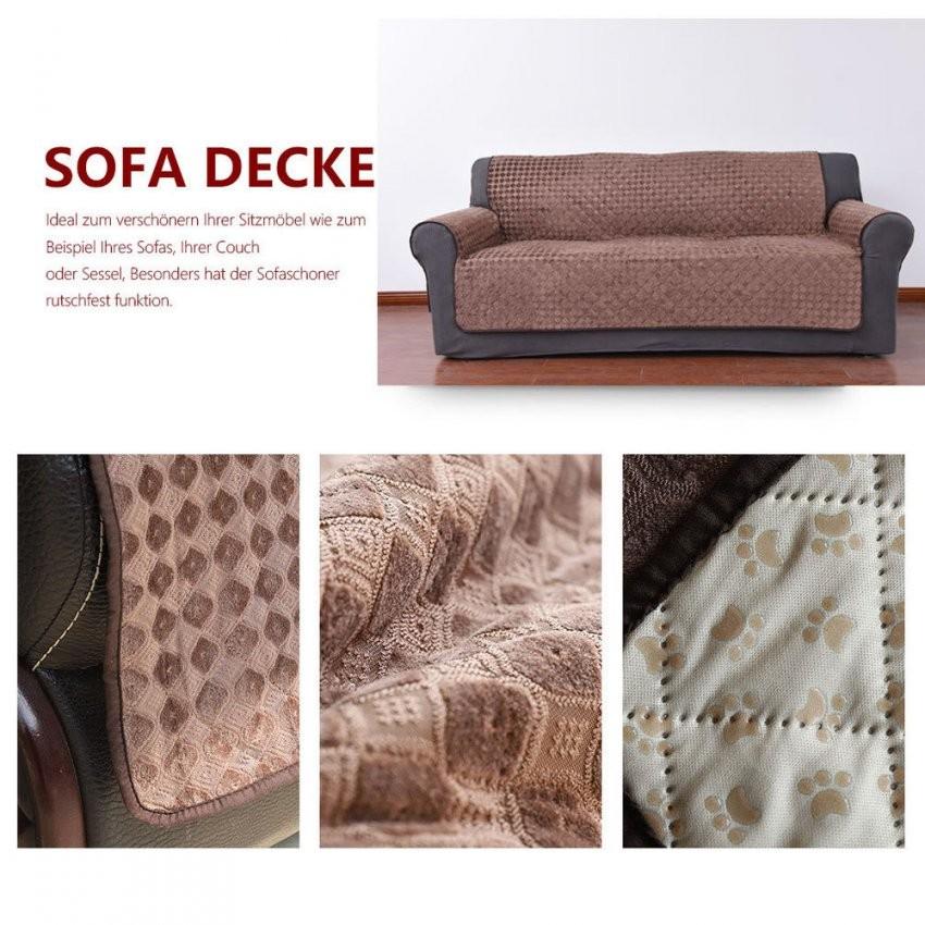 Antirutsch Sofaüberwurf Sesselschoner Sofaschoner Sesselbezug Decke von Sofaüberwurf 3 Sitzer Photo