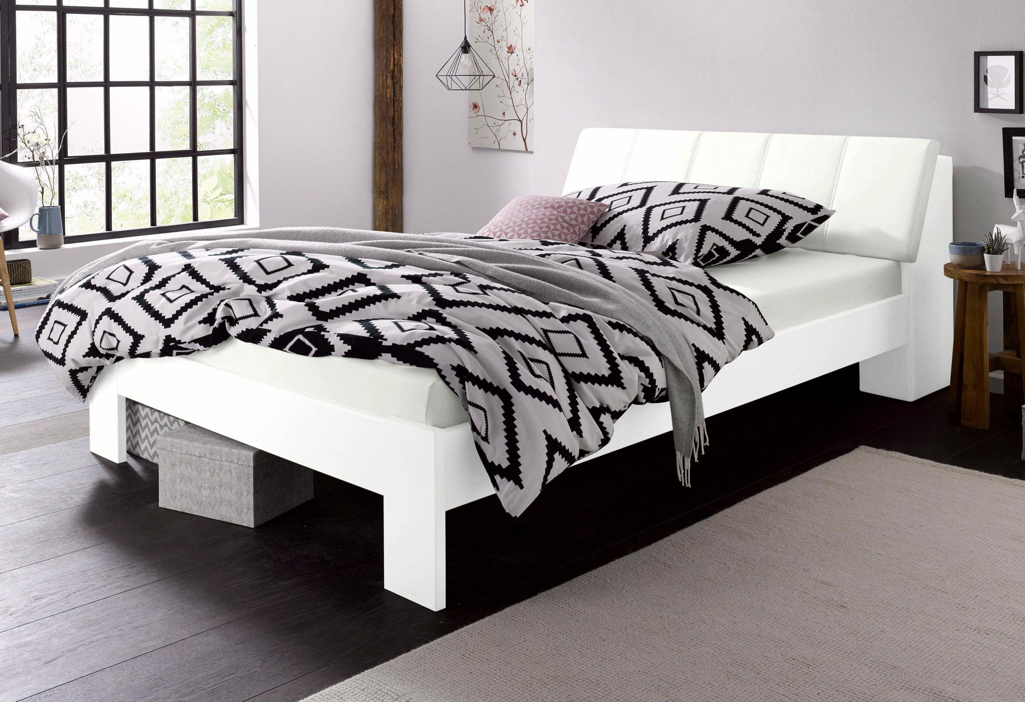 Atemberaubend Bett Bestellen Futonbett Mit Bettkasten Im Kopfteil von Boxspringbett 140X200 Baur Bild
