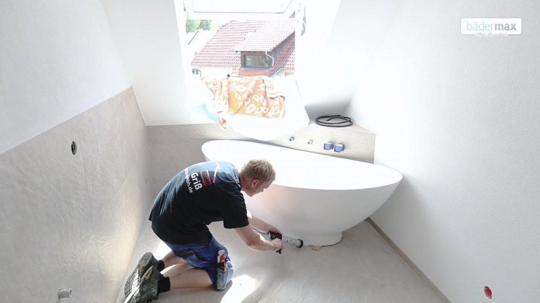 Aufbauanleitung Für Freistehende Mineralguss Badewanne  Youtube von Halb Freistehende Badewanne Bild