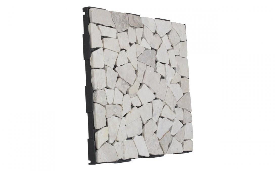 Außenbereich Clickfliesen Mosaikfliesen Bruchstein Marmor Weiß 30*30 von Mosaik Fliesen Außenbereich Bild