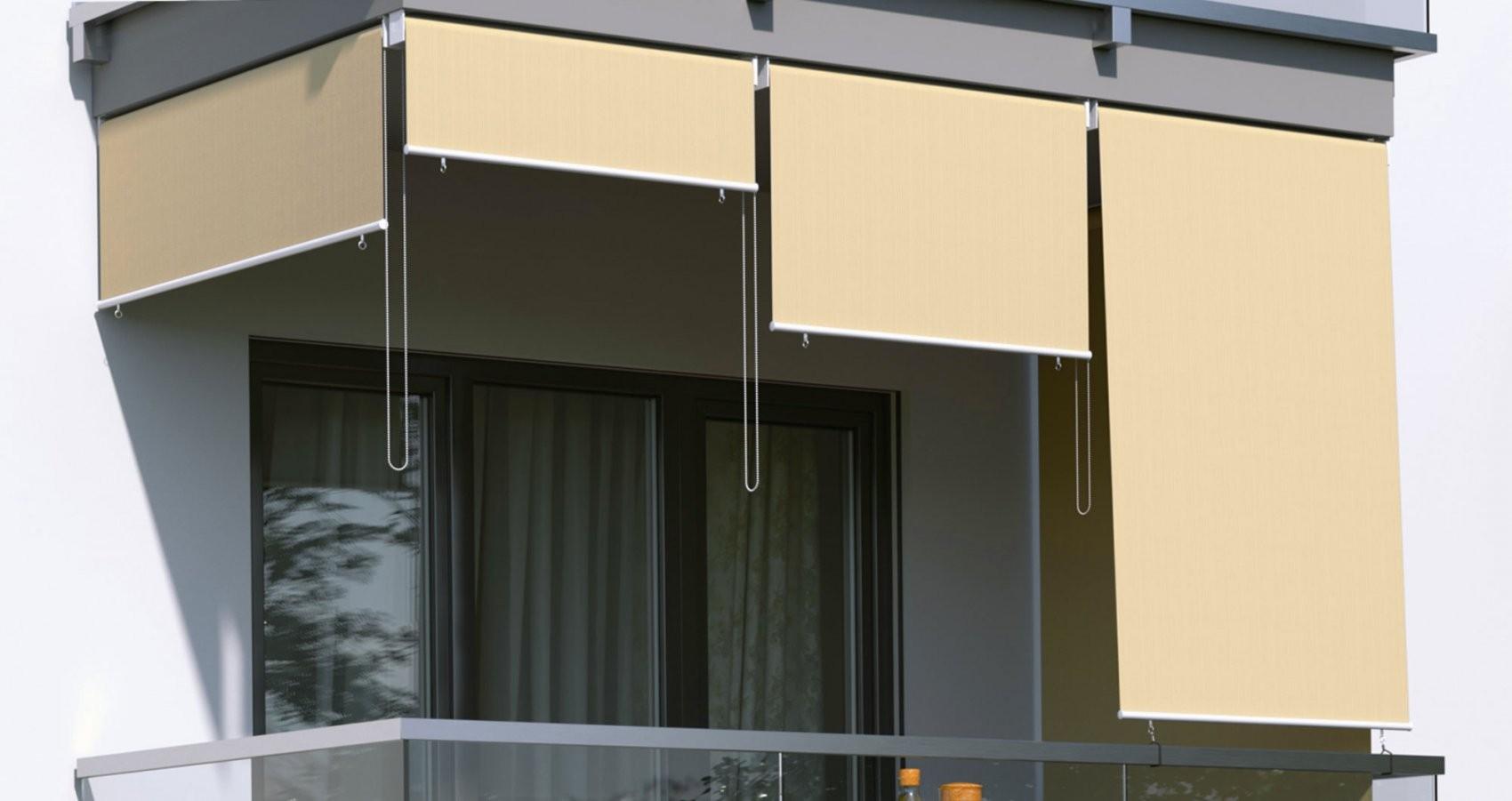 Außenrollos  Senkrechtmarkisen  In Vielen Farben & Größen von Fenster Rollos Außen Bild