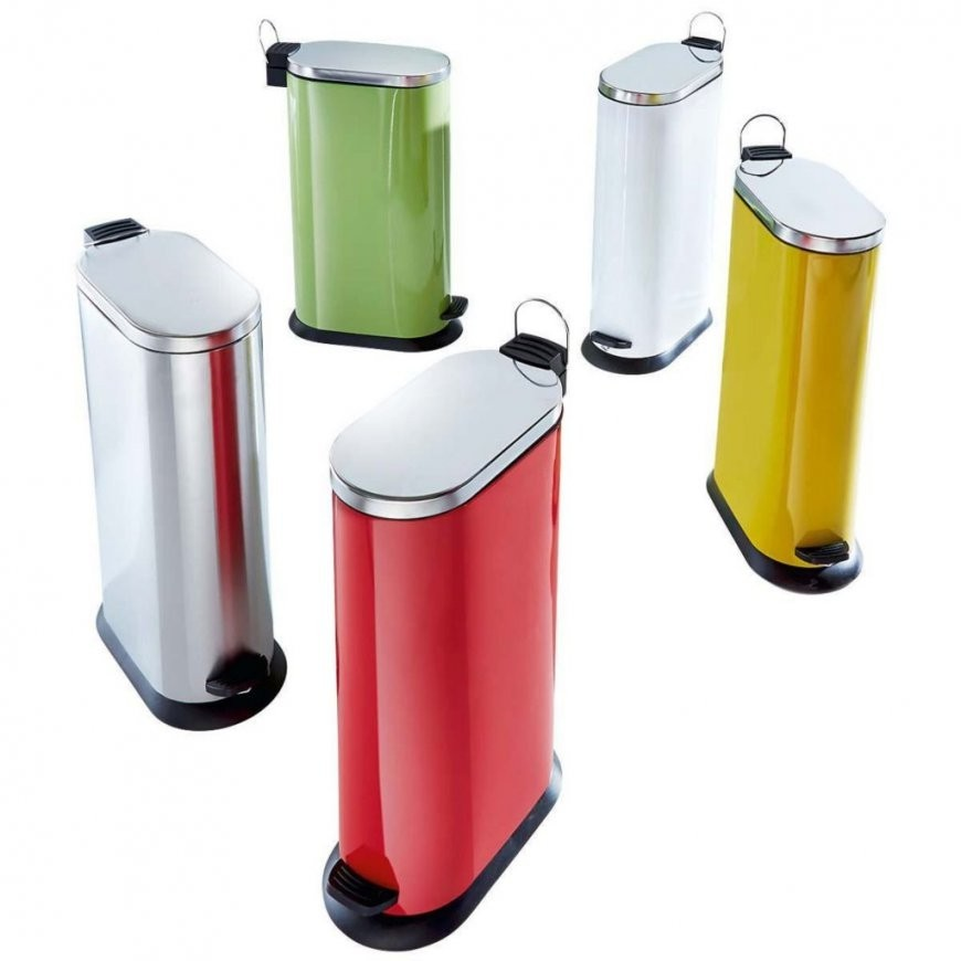 Ausgezeichnet Mülleimer Für Küche Edelstahl Abfalleimer Oval Metall von Design Mülleimer Küche Bild