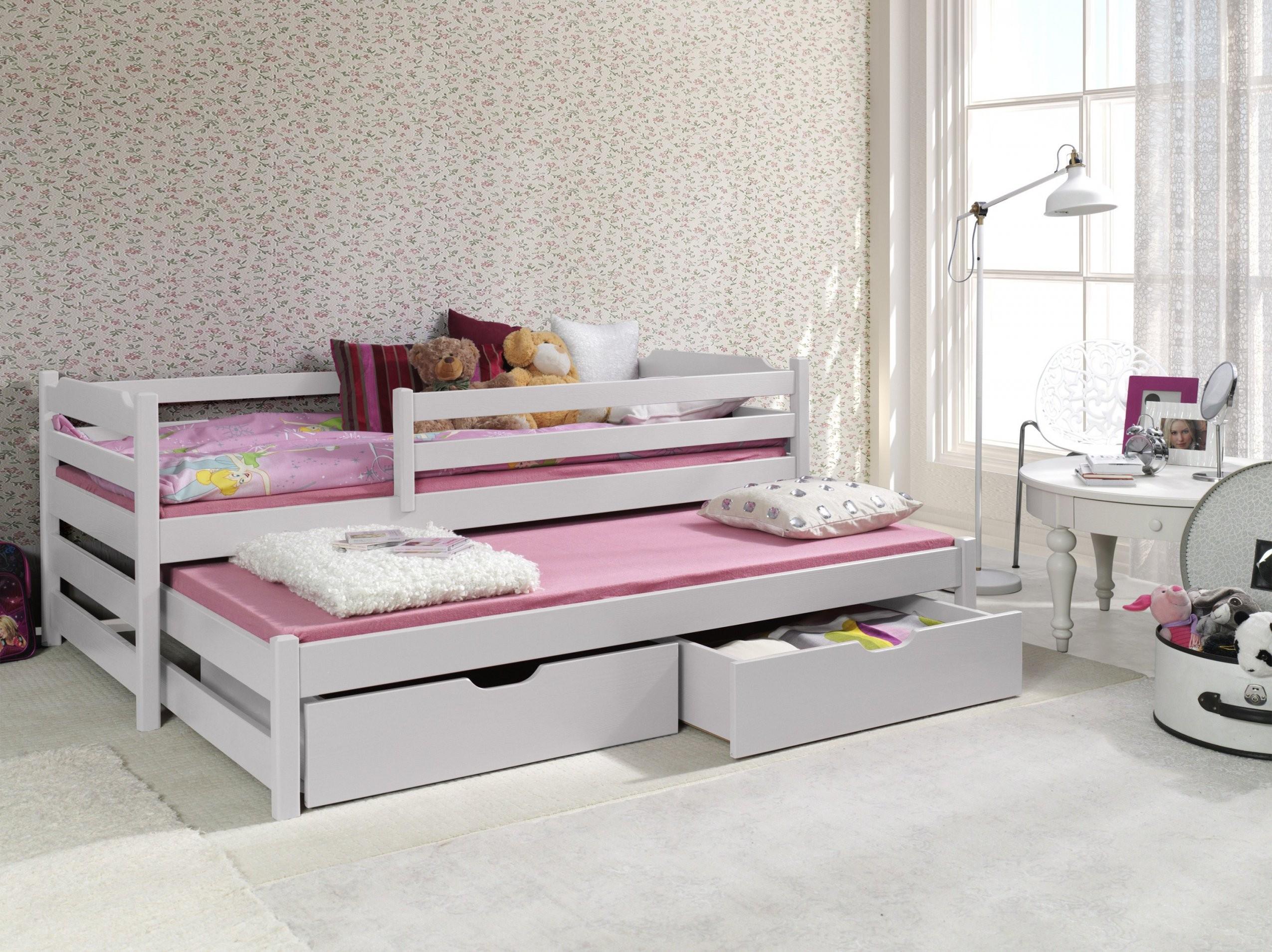 Ausziehbett Martin Ii Inkl Lattenroste Matratzen Und Zwei von Bett Mit Ausziehbett Und Schubladen Bild