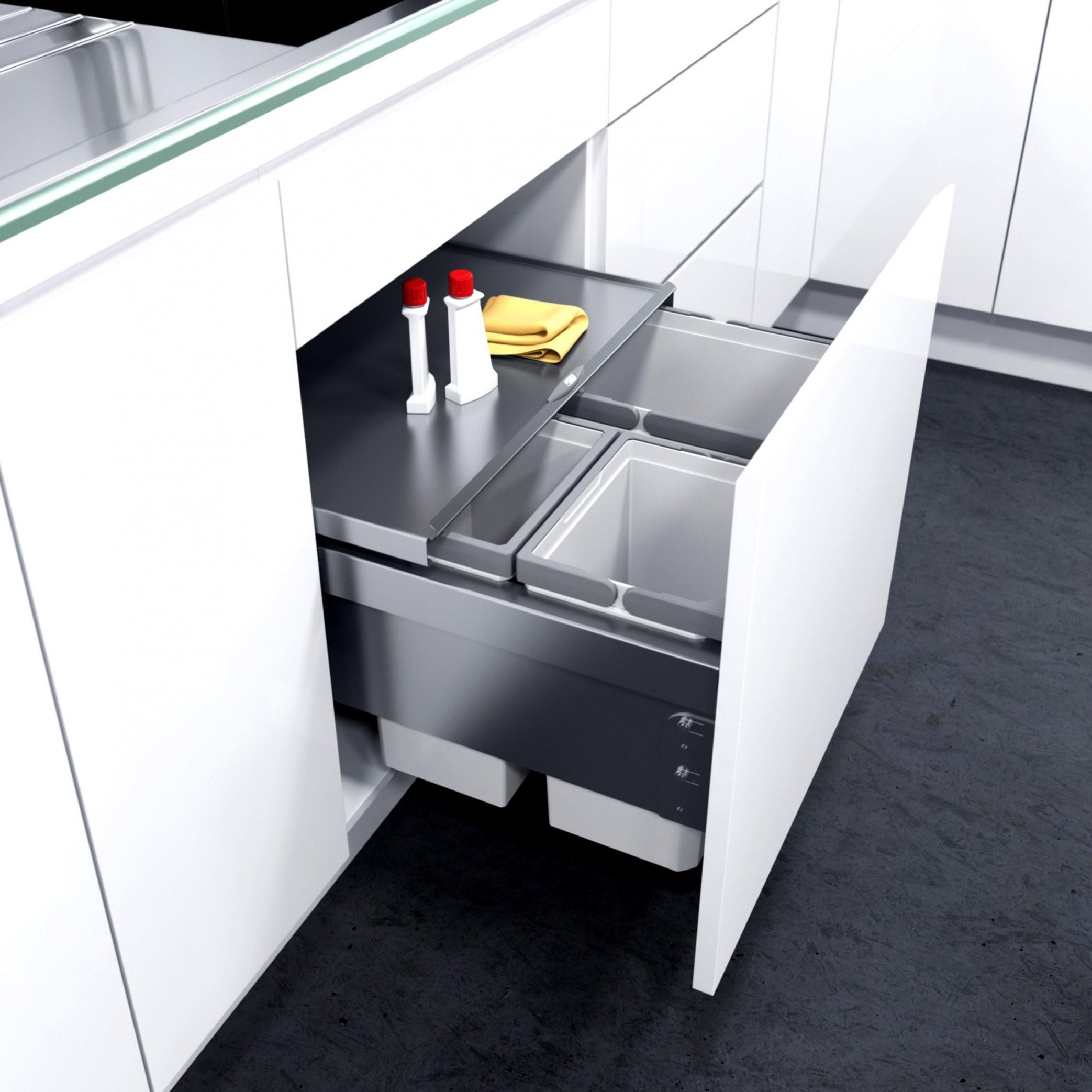 Auszug Mülleimer Küche  Einbau Küchen Mülleimer Treteimer 2X15 von Mülleimer Küche Automatischer Auszug Bild