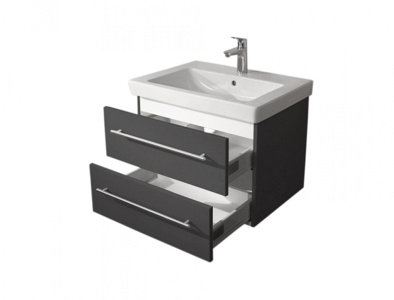 Badwaschtisch Mit Villeroy & Boch Becken Subway 20  65 Cm Breit von Villeroy Und Boch Bad Waschbecken Bild