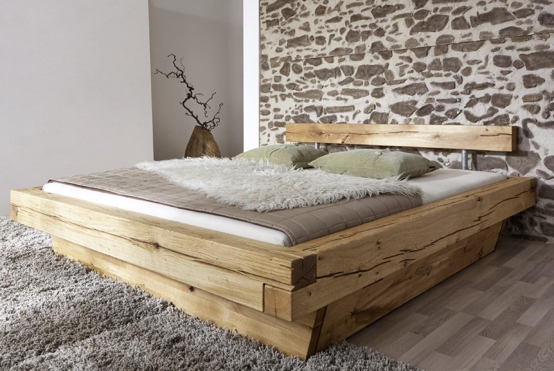 Balkenbett 200X200 Massivholzbett Mit Bettkasten Wildeiche Jakob von Bett 200X200 Holz Photo