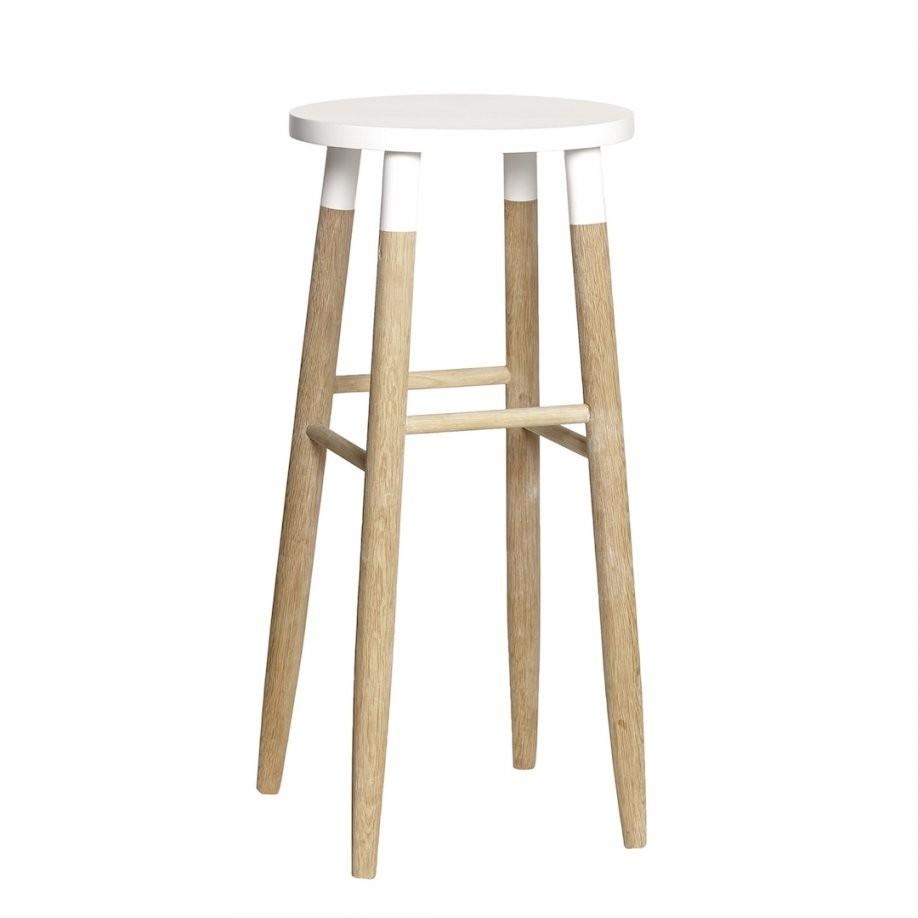 Barhocker Aus Holz Weiß Im Skandinavischen Stil Online Kaufen  Myadele von Barhocker Weiß Holz Bild