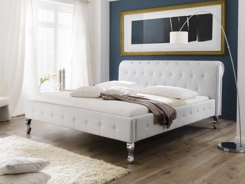 Barock Polsterbett Kunstlederbett Bett Designerbett  140X200 Weiß von Kunstleder Bett Weiß 140X200 Photo