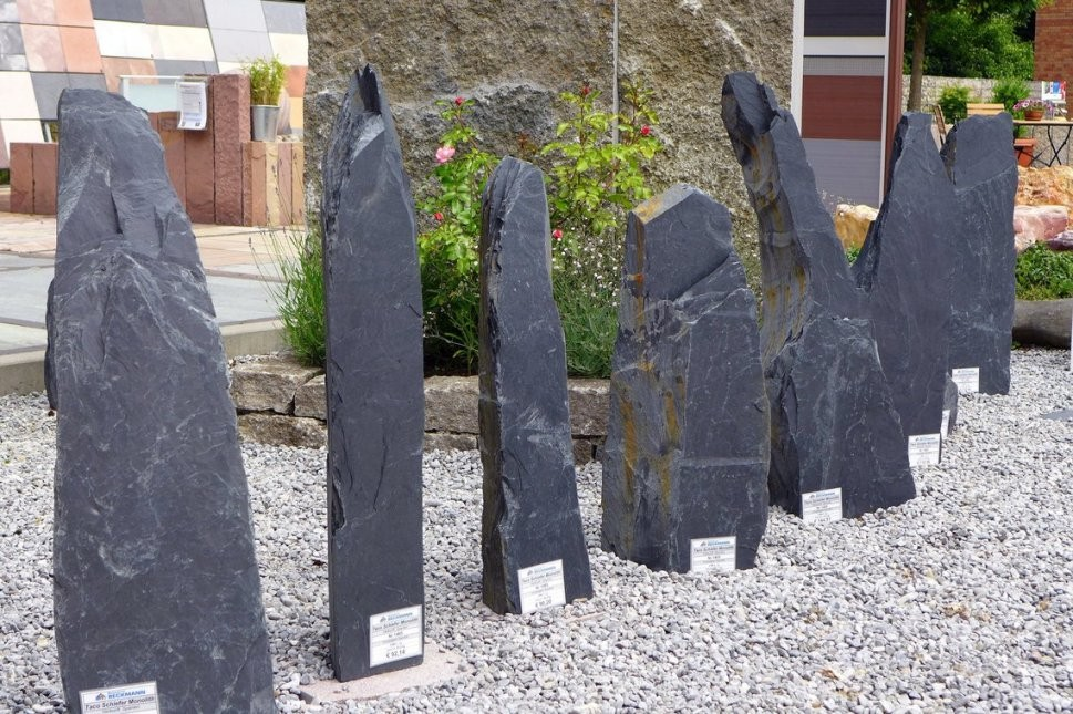 Bauzentrum Beckmann Felsen+Säulen von Steinsäule Garten Bild