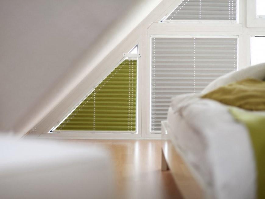 Beeindruckend Rollo Dreiecksfenster Plissees Für Giebelfenster von Rollos Für Schräge Fenster Selber Bauen Bild