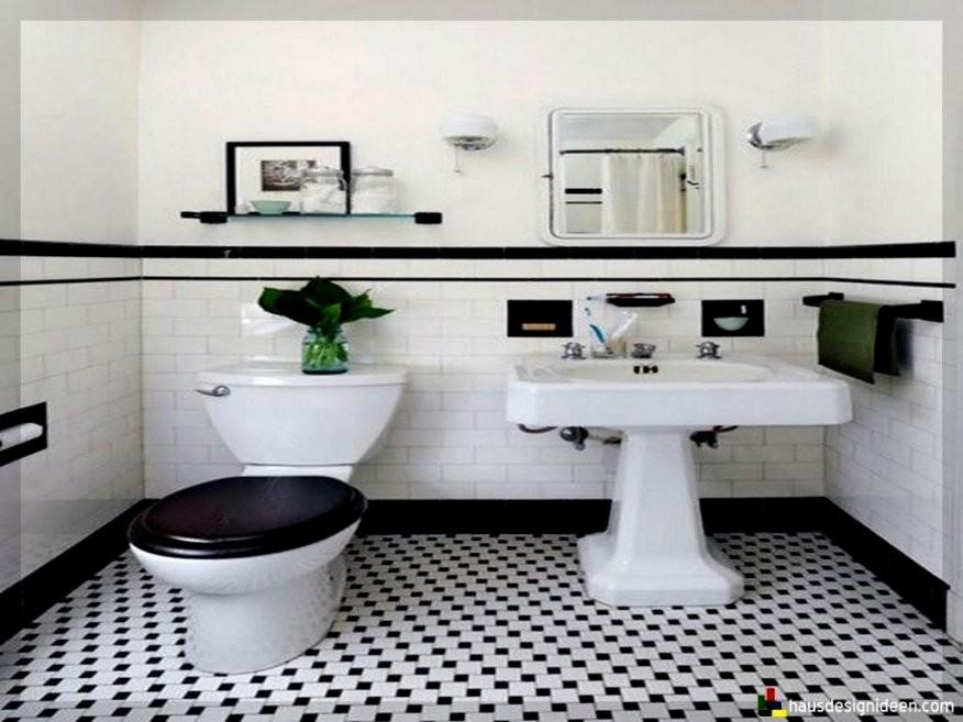 Beste Schwarz Weiß Fliesen Bad Elegantes Weis Wei Mit Badezimmer von Badezimmer Fliesen Ideen Schwarz Weiß Bild
