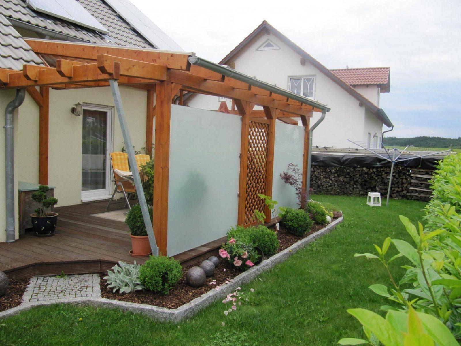 Beste Terrassenüberdachung Selber Bauen Von Seitenwand Für von Seitenwand Für Terrassenüberdachung Selber Bauen Bild