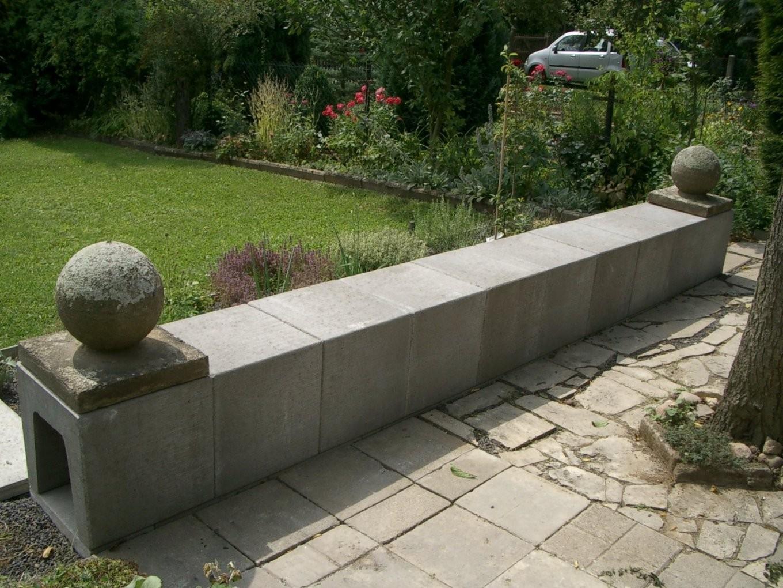 Beton U Steine Gartenbank – Wohndesign von U Steine Garten Bild