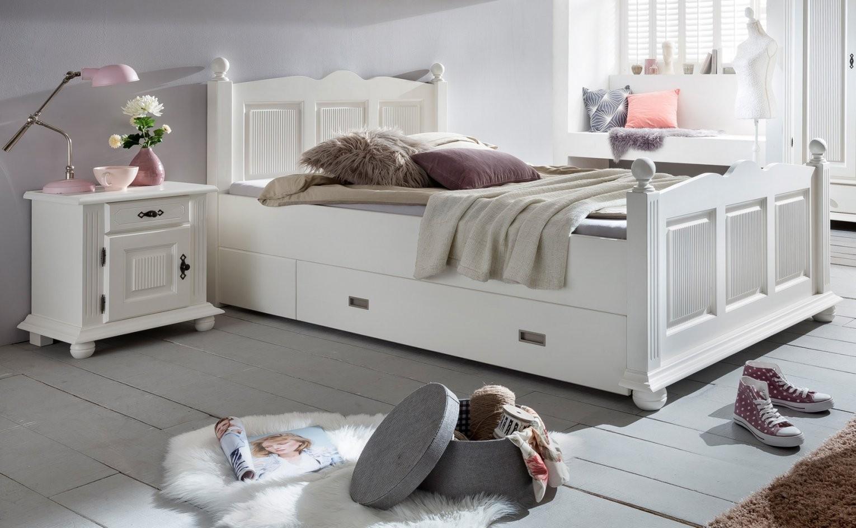 Bett 120 X 200 Cm Fichte Massiv Weiss Friesland12  Designermöbel von Moderne Betten 120X200 Photo