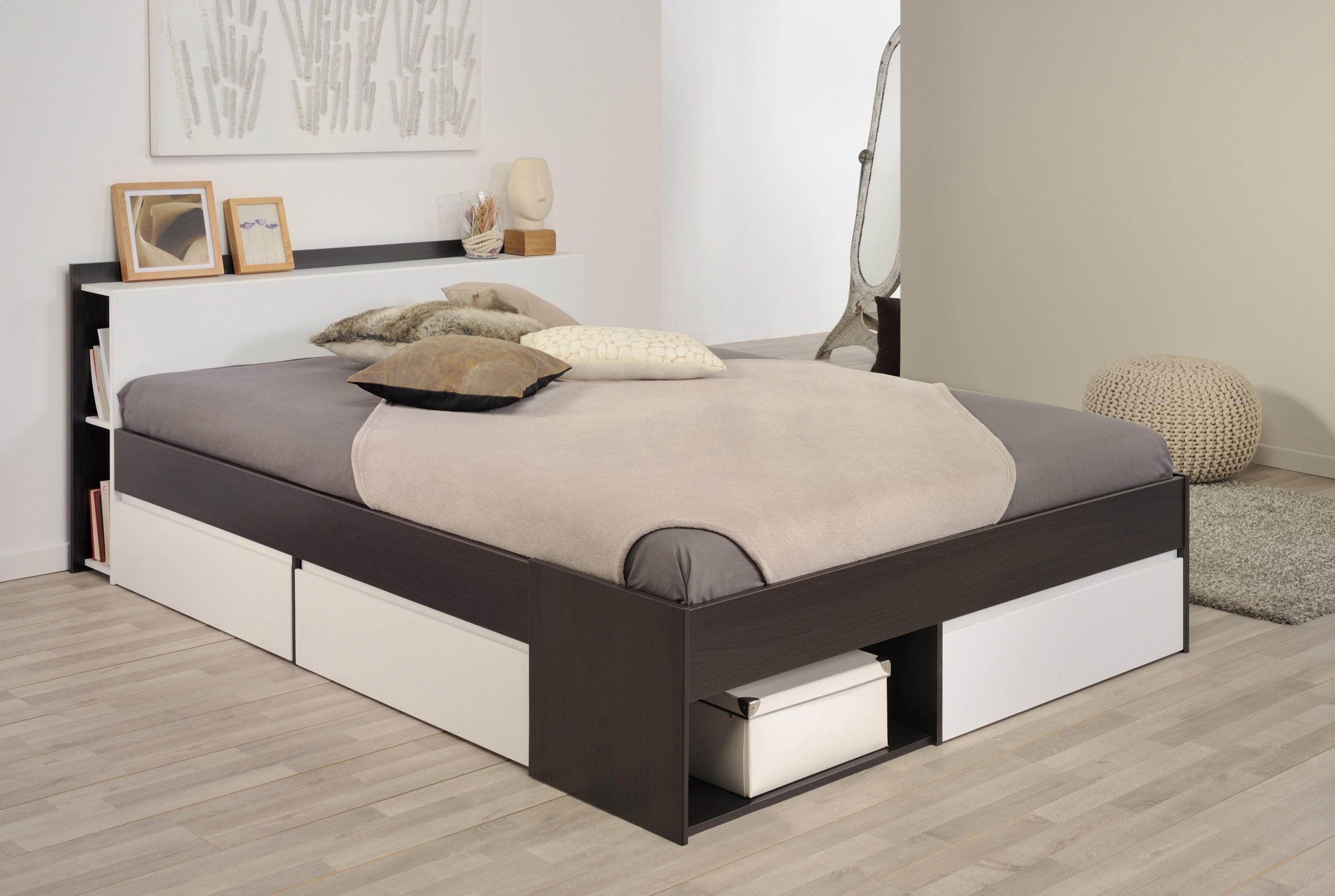 Bett 140 X 200 Cm Kaffee Braun Weiss Parisot Most 3 Modern  Kaufen von Moderne Betten 140X200 Bild