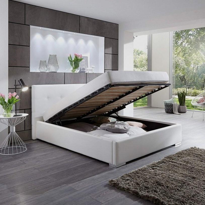 Bett 140×200 Mit Bettkasten Ausgezeichnet Polsterbett Kunstleder von Bett 140X200 Weiß Kunstleder Bild