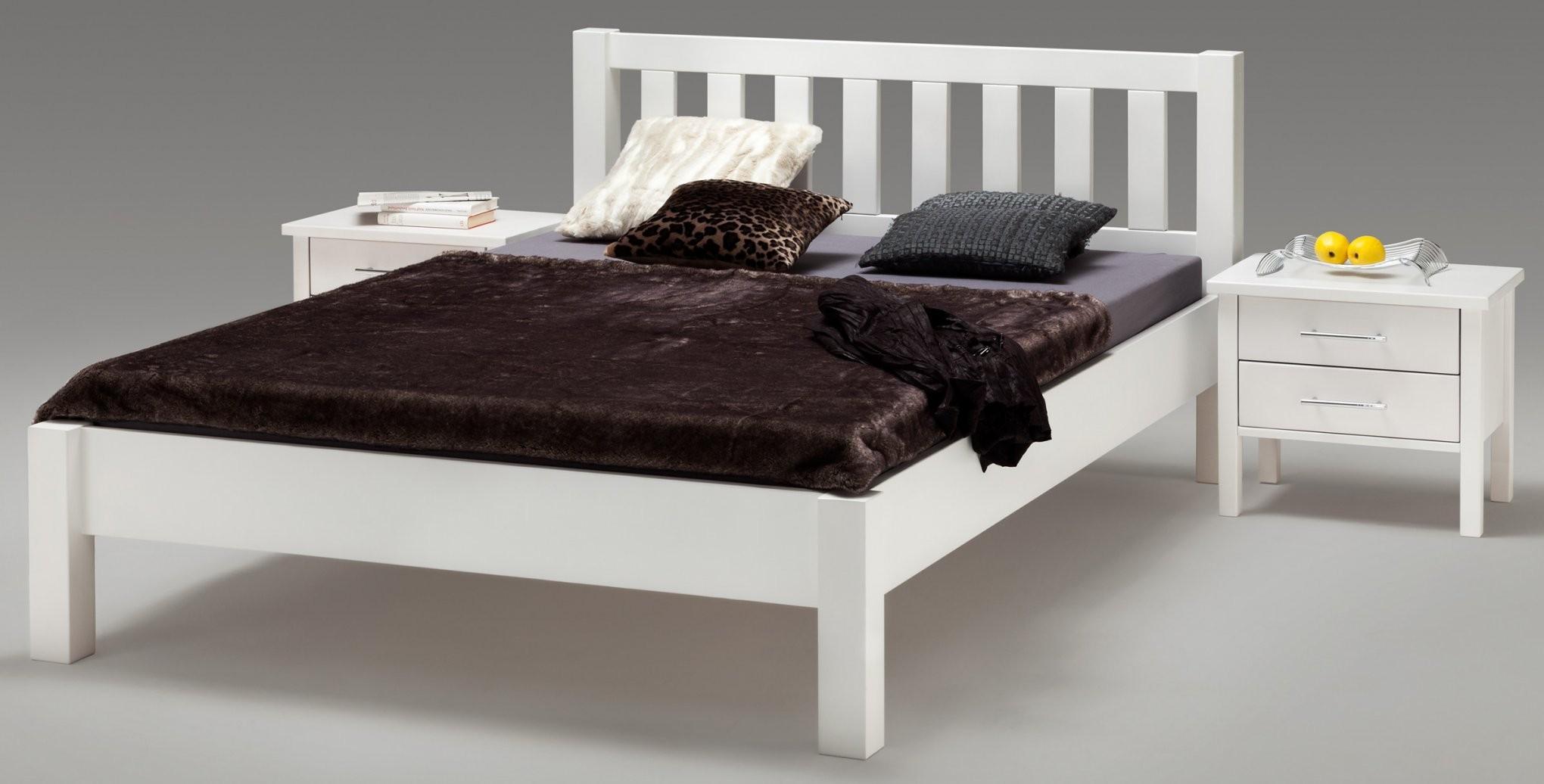 Bett 140X200 Weis X Hochglanz Mit Bettkasten Lattenrost Hoch von Bett 140X200 Hoch Photo