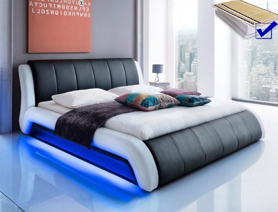 Bett 180X200 Mit Lattenrost Und Matratze Erstaunlich Auf Kreative von Led Bett 180X200 Bild