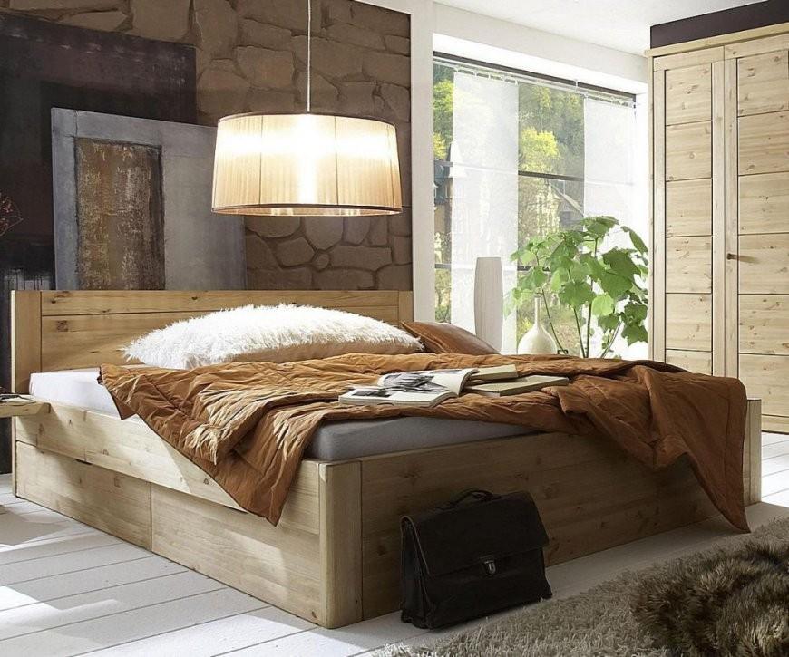 Bett 200X200 4 Schubladen Komforthöhe 45Cm Kiefer Massiv Gelaugt von Bett 200X200 Mit Schubladen Photo