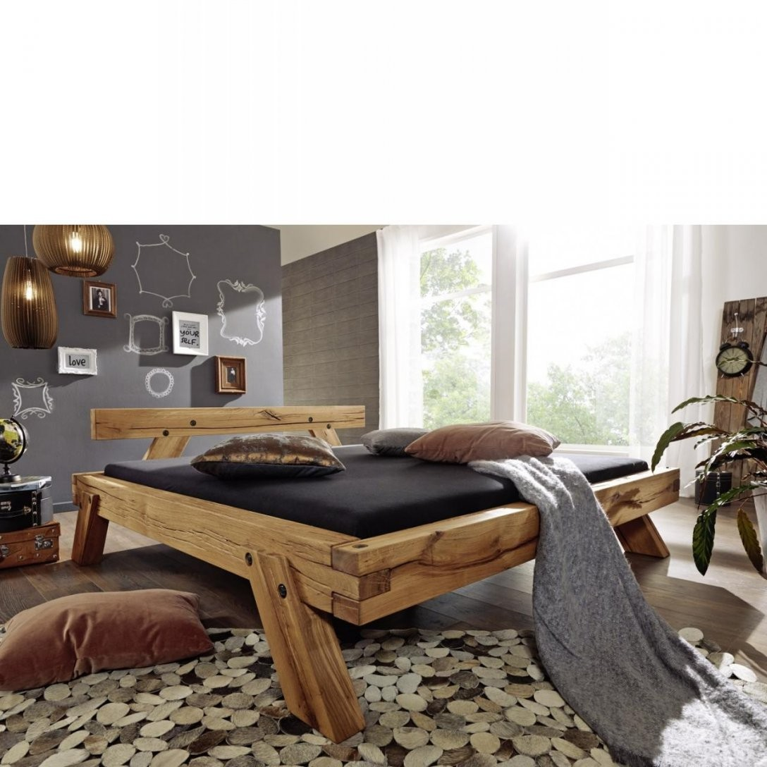 Bett 281  Wildeiche  180X200 Cm  Futonbetten  Betten  Schlafen von Bett Wildeiche 180X200 Bild