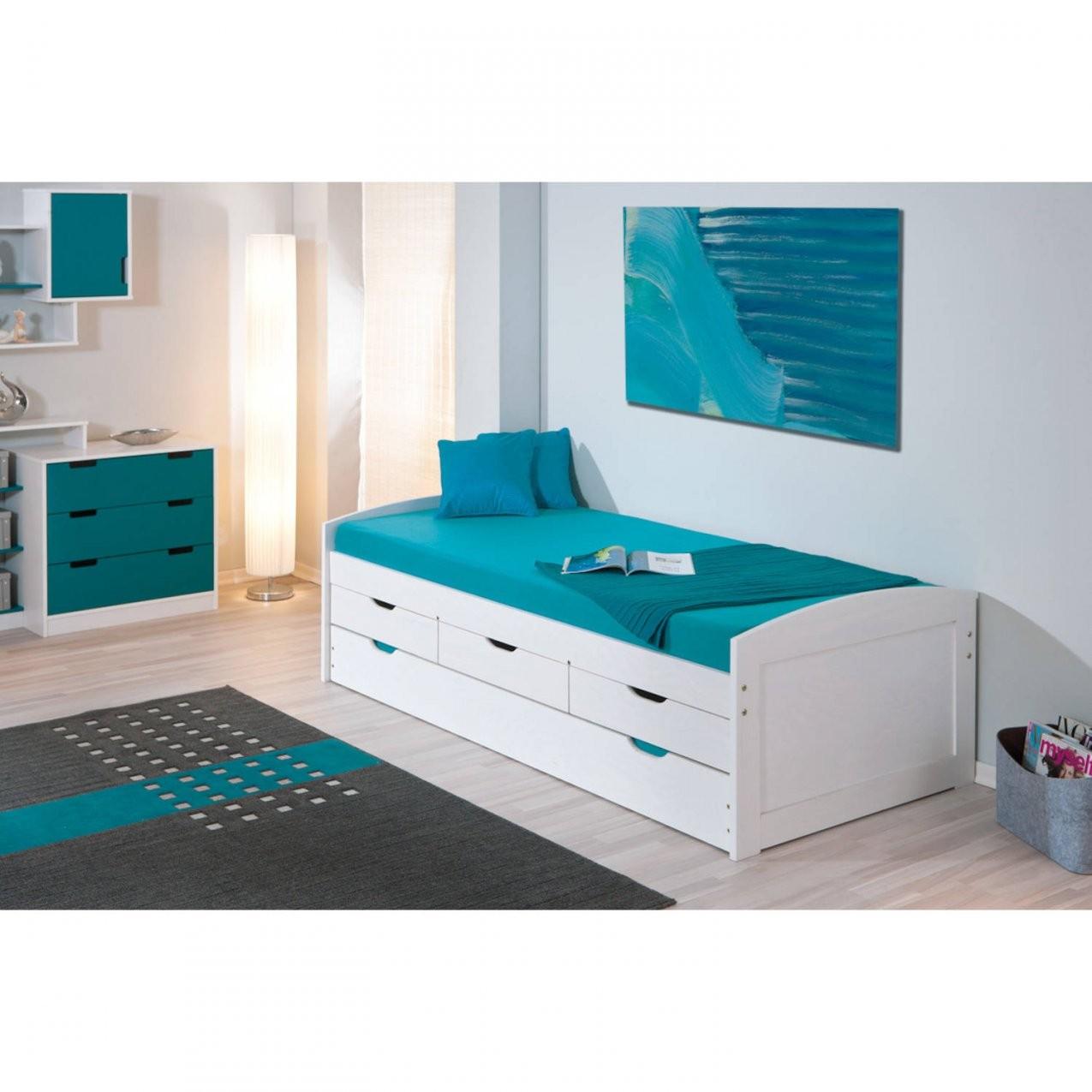 Bett 90X190 Cm Kinderbett Funktionsbett Kojenbett Gästebett Weiß von Bett Mit Gästebett Und Schubladen Bild