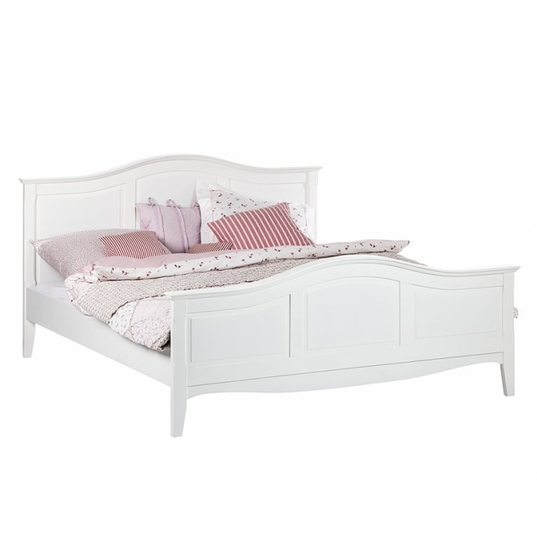 Bett Aus Der Serie Giselle In Weiß (140 X 200 Cm)  Home24 von Bett Weiß 180X200 Holz Bild