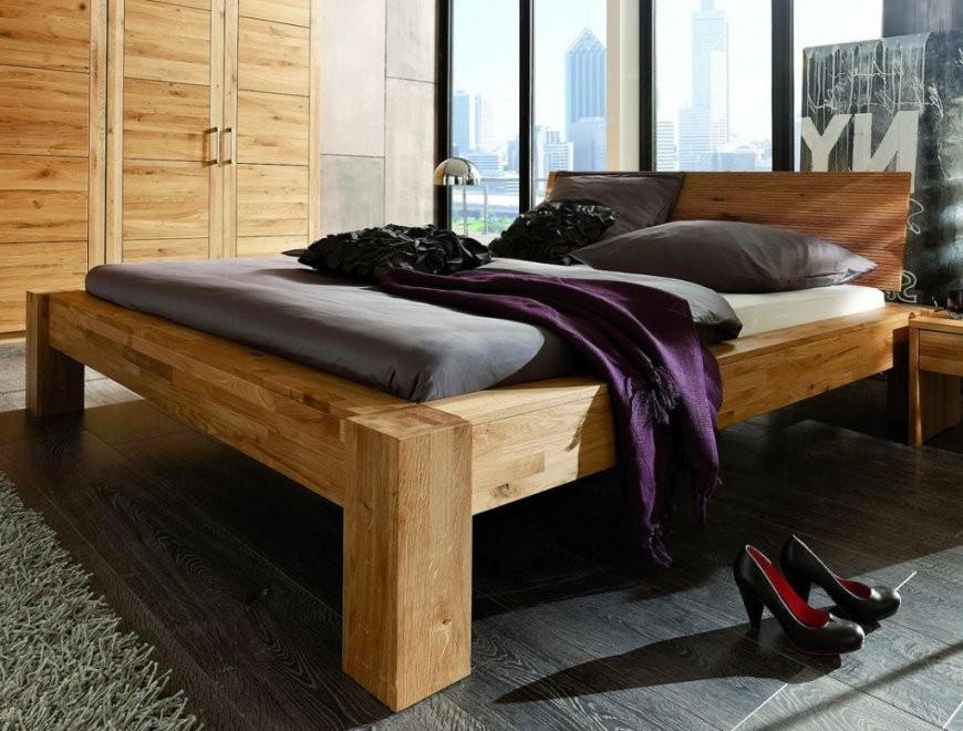 Bett Balkenoptik 200X200 Kopfteil Hercules I Parkettverleimt von Bett 200X200 Holz Bild