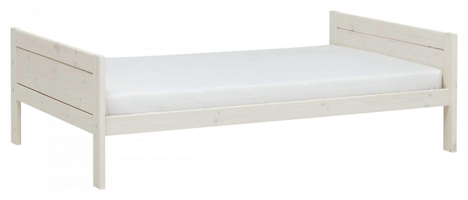 Bett Basis 120 X 200 Cm  Weiße Kiefer  Emob von Weißes Bett 120X200 Bild