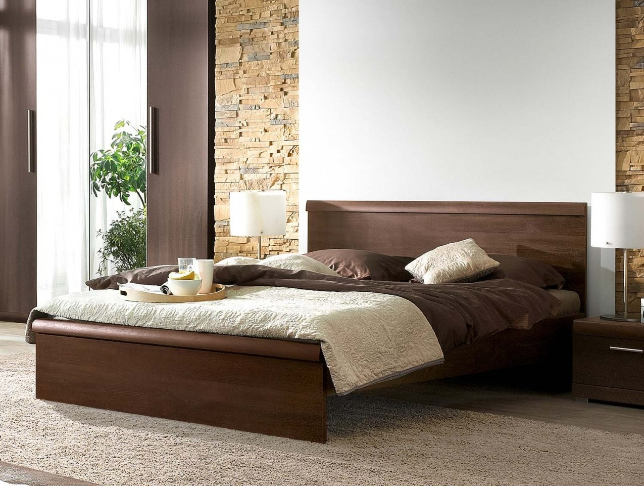 Bett Doppelbett 160X200Cm Sonoma Eiche Dunkel Neu  Holzbetten von Bett Sonoma Eiche 160X200 Bild