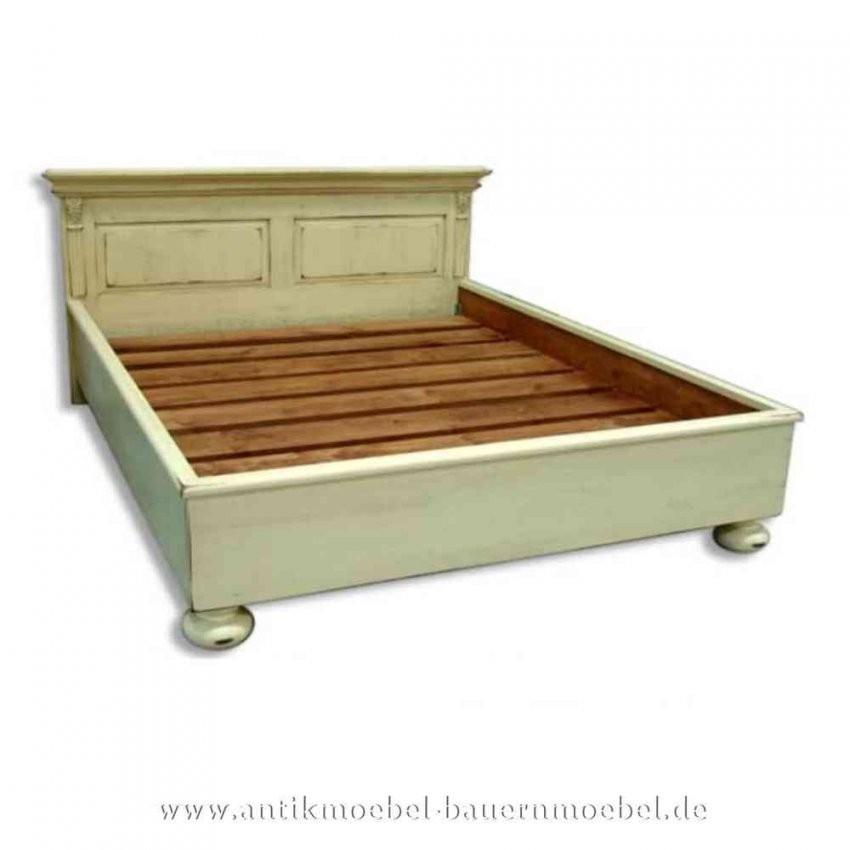 Bett Doppelbett 200X200 Landhausstil Vollholz Weiß Shabby Chic von Bett 200X200 Landhausstil Bild