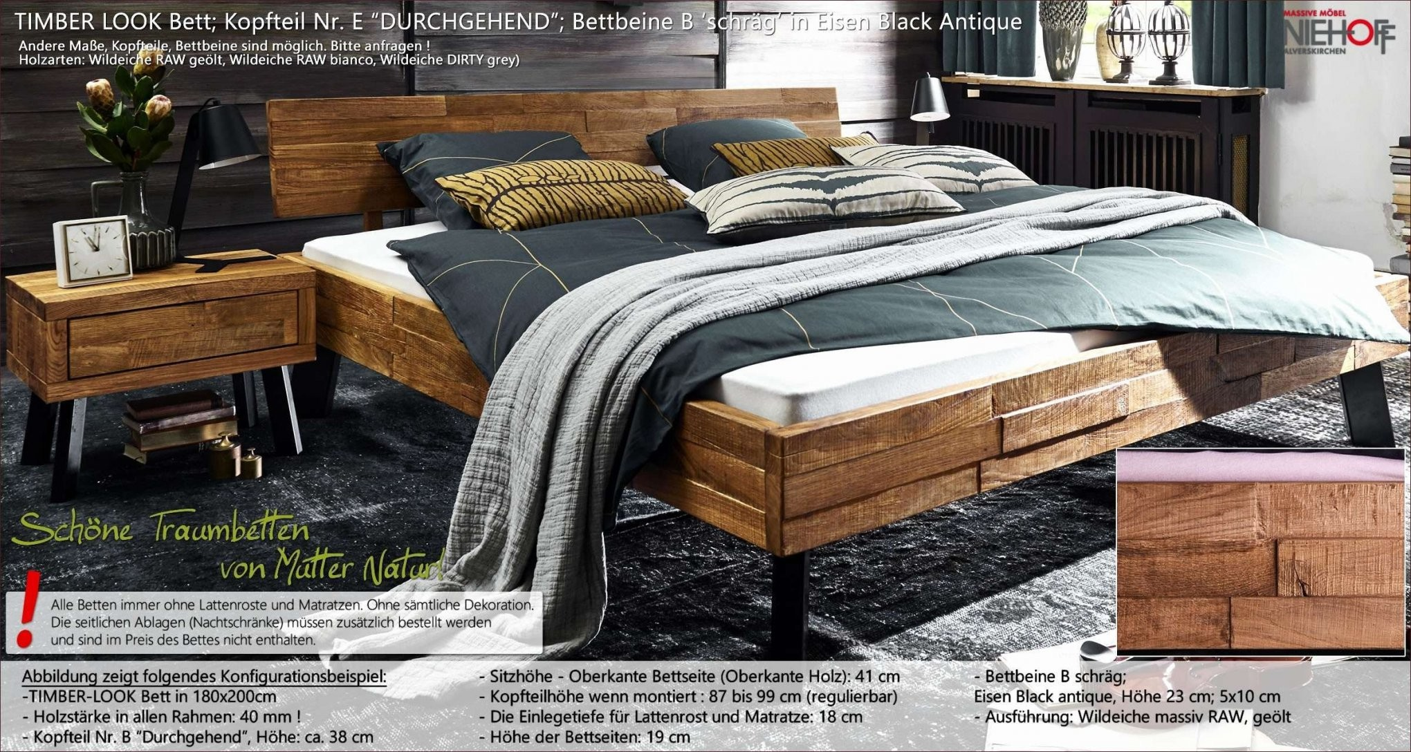 bett mit matratze und lattenrost 90x200 haus bauen. Black Bedroom Furniture Sets. Home Design Ideas