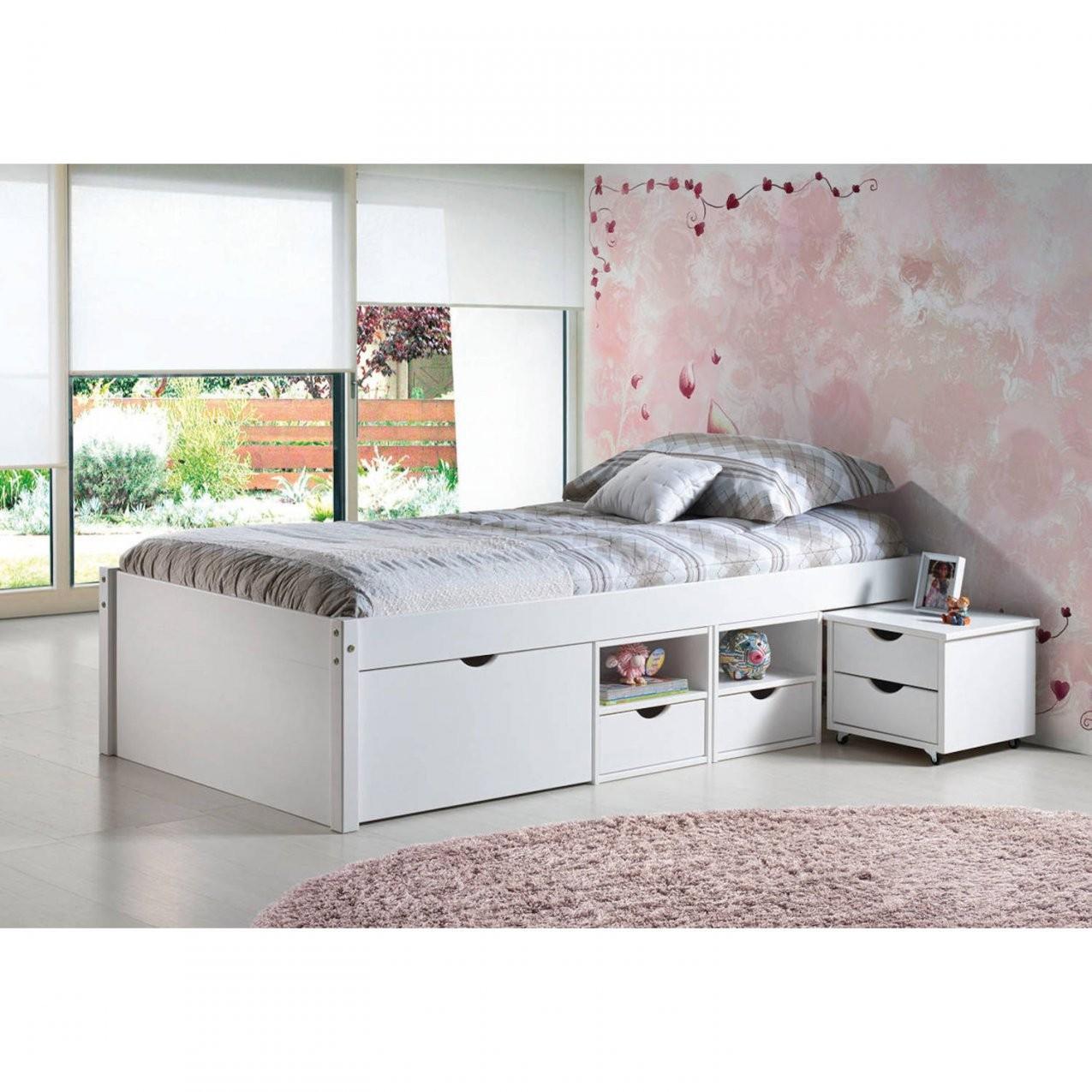 Bett Kinderbett Funktionsbett Schubladen Weiß Massivholz 90X200 Neu von Bett 90X200 Weiß Mit Schubladen Bild